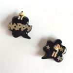 happy people pierced earrings #01