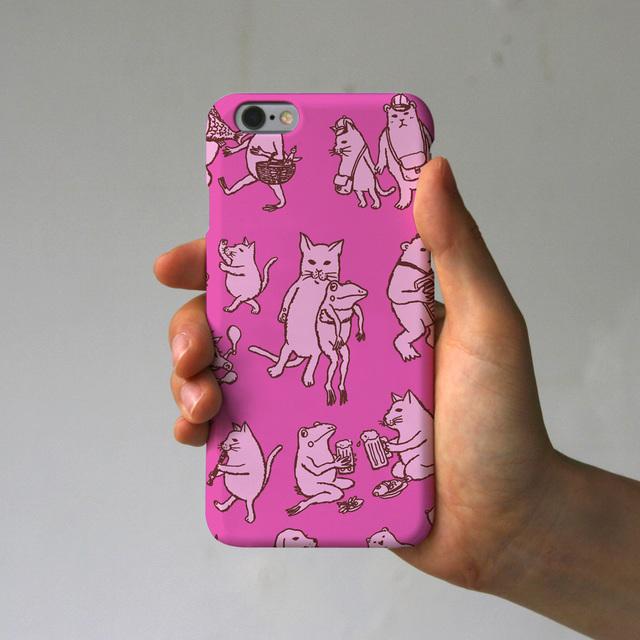 スマホケース なかまたち(ピンク)