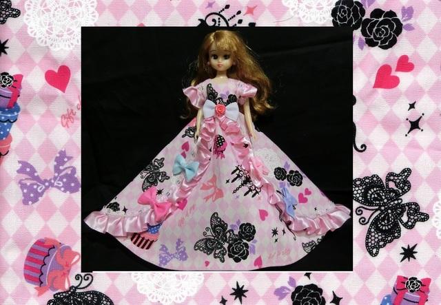 リカちゃん カラフルリボン・ゴシック調ドレス