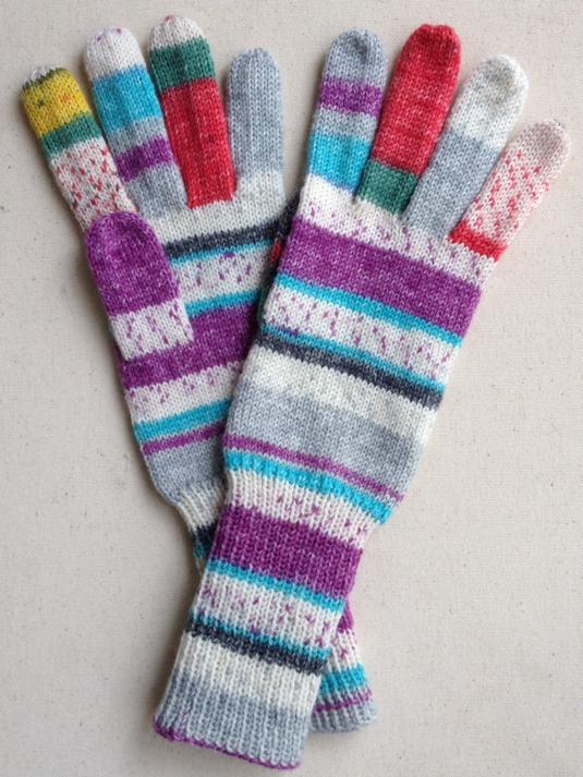 手編み5本指手袋 No.32