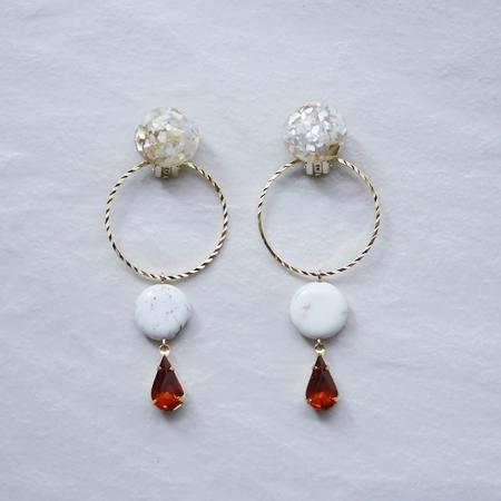 -Glittery Earrings-