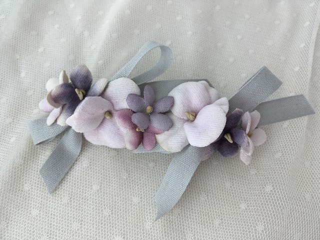 パンジーバレリーナバレッタ violet×light gray