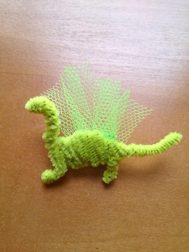 恐竜ブローチ キミドリ