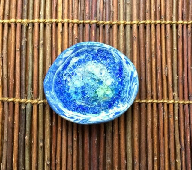 ★波模様豆皿