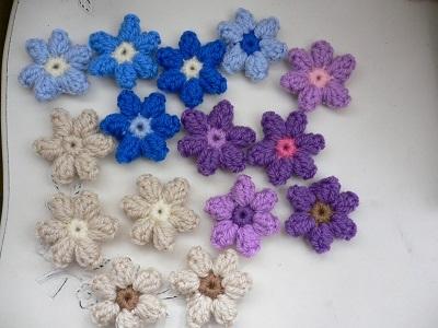 お花モチーフ5個×3セット