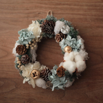 【再販】Christmas wreath〜white&blue❇︎Sサイズ