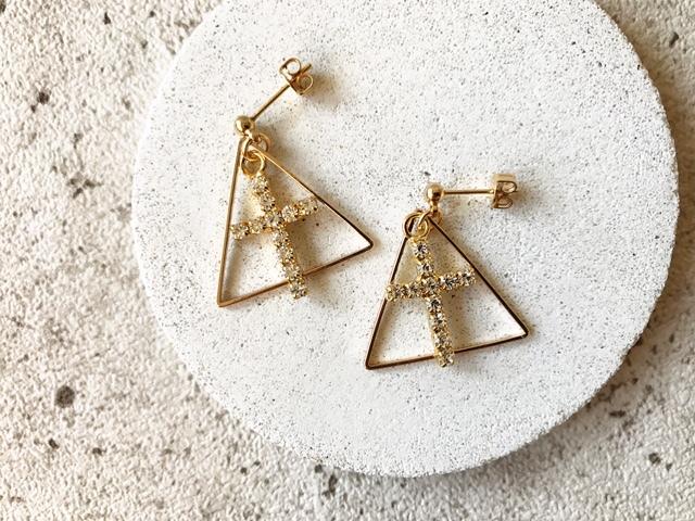 Triangle × Cross pierce (NO.2979)