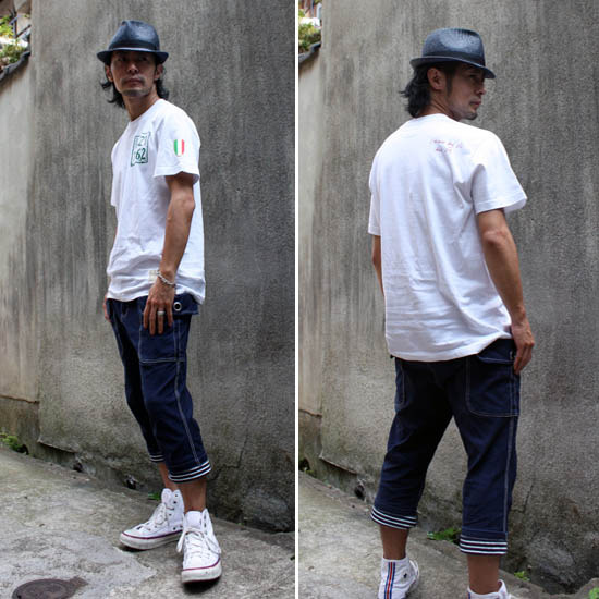 【JIKUU BY SLC】コットン/刺繍ワッペン付き/メンズTシャツ『ローマ』