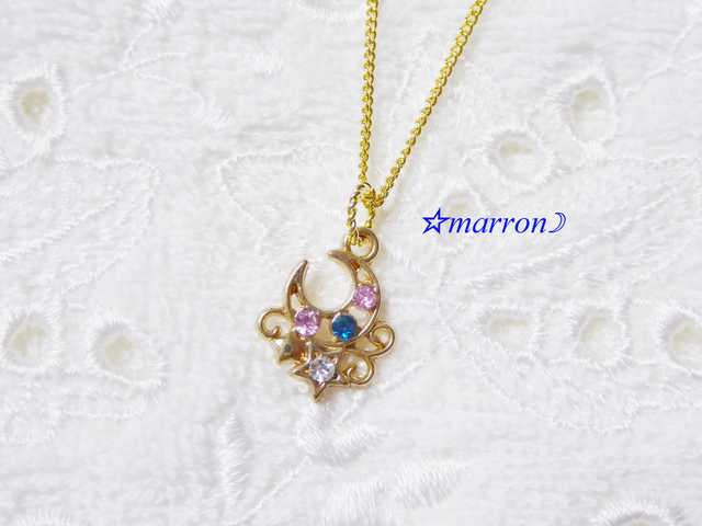 romantic moon&starネックレス★