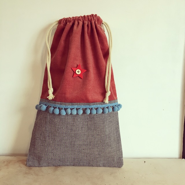 北欧風の巾着袋。(BA-033)