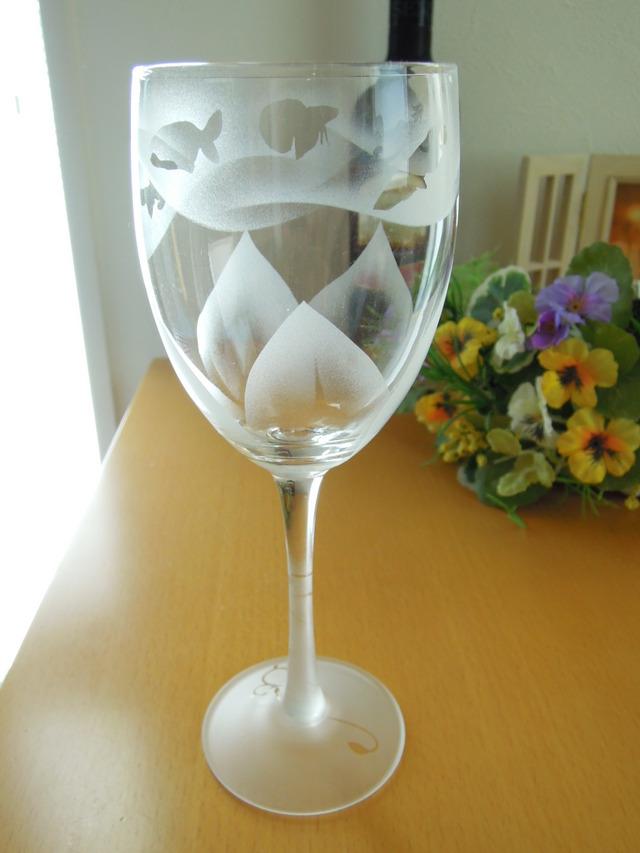 〜fish&flower〜 花とおさかなvol.1 ワイングラス