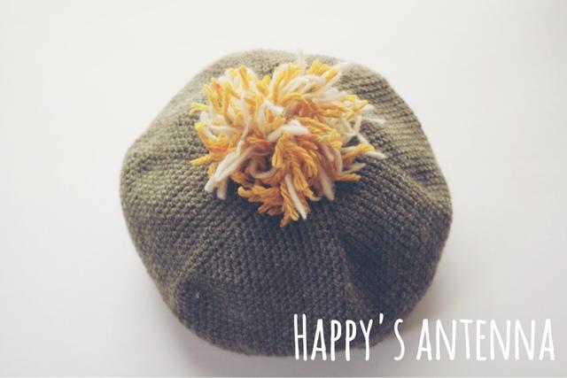 ニット ベレー帽