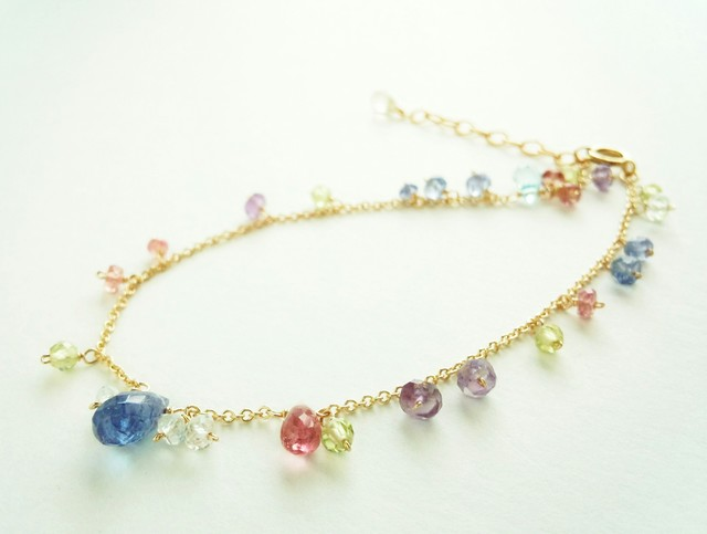 【14kgf】カラフルな花色ドロップブレス...