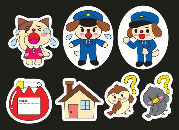 ★壁面飾り工房 犬のおまわりさん 大型パネルシアター 保育園・幼稚園・病院★
