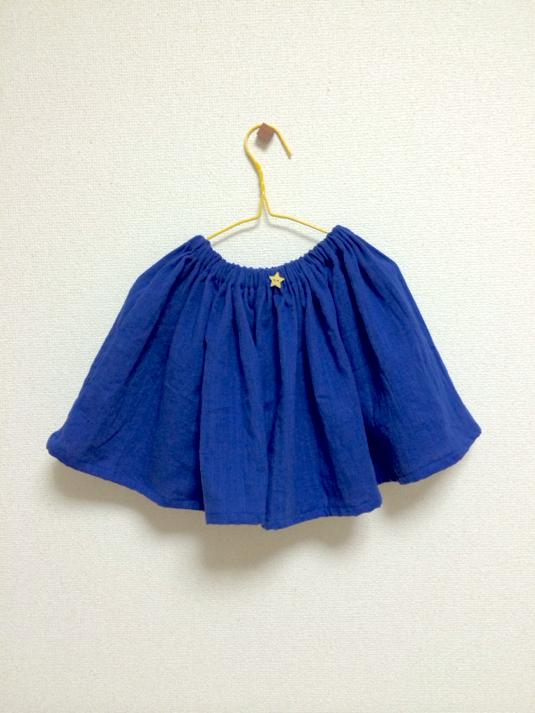 (値下げ!)ダブルガーゼ☆シンプルギャザースカート