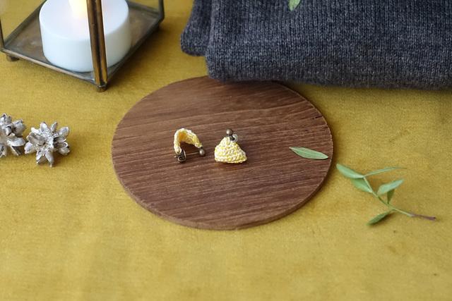 leaf ピアス(黄色&象牙)