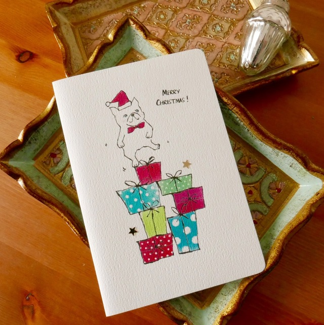 CHRISTMAS CARD - BUHI  2PC SET
