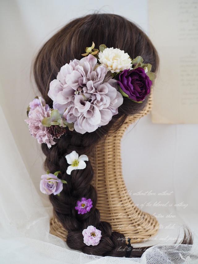 ダリアのヘッドドレス *light purple*