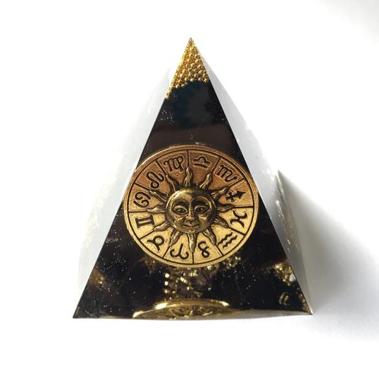 強力邪気祓い!モリオン☆ピラミッド型オルゴナイト