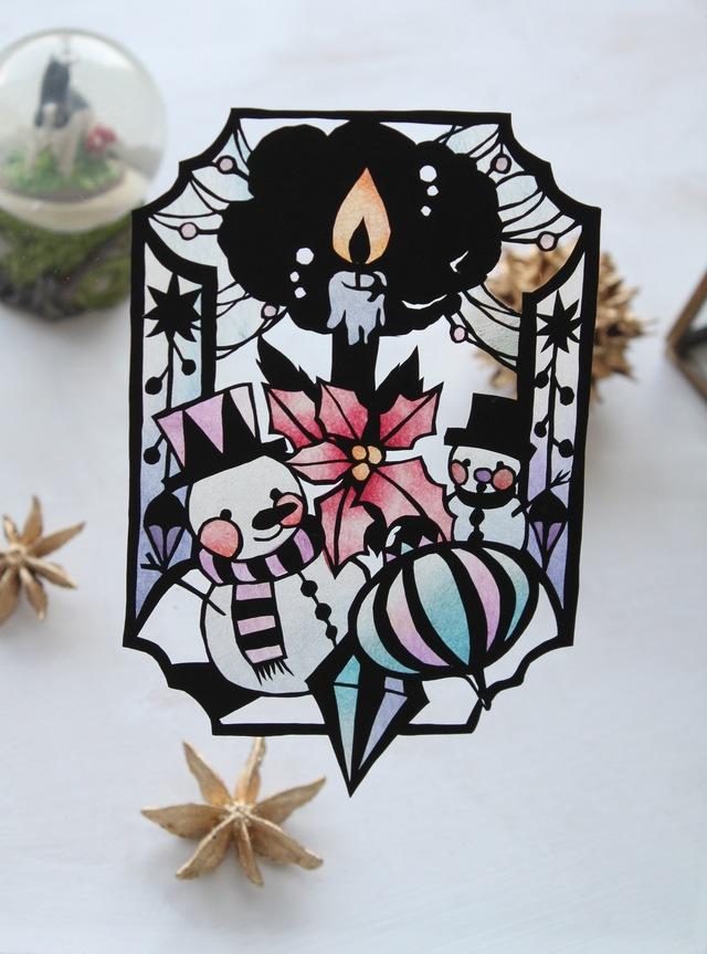 雪のクリスマス切り絵キット【毎週金曜...