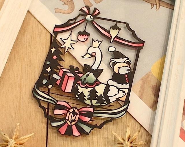 白鳥のクリスマス切り絵キット【毎週金...