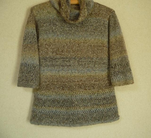 段染糸のAラインセーター(七分丈袖)...