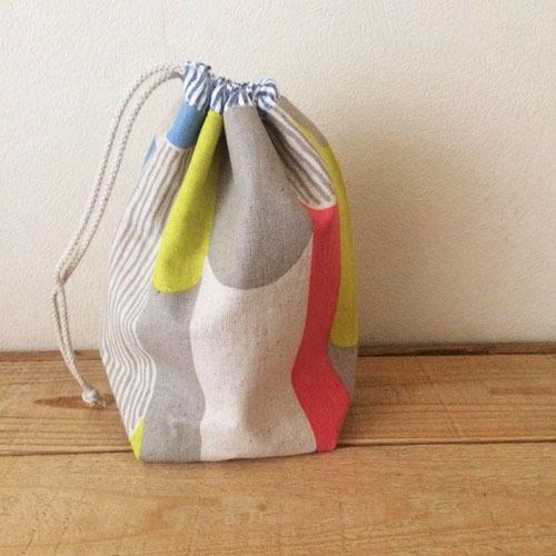 コップ袋  *カラフル円柱×ストライプ*