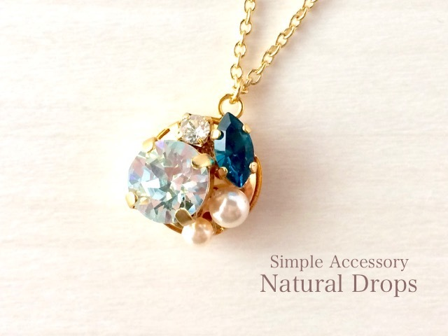 Aqua Blue Necklace・・・424