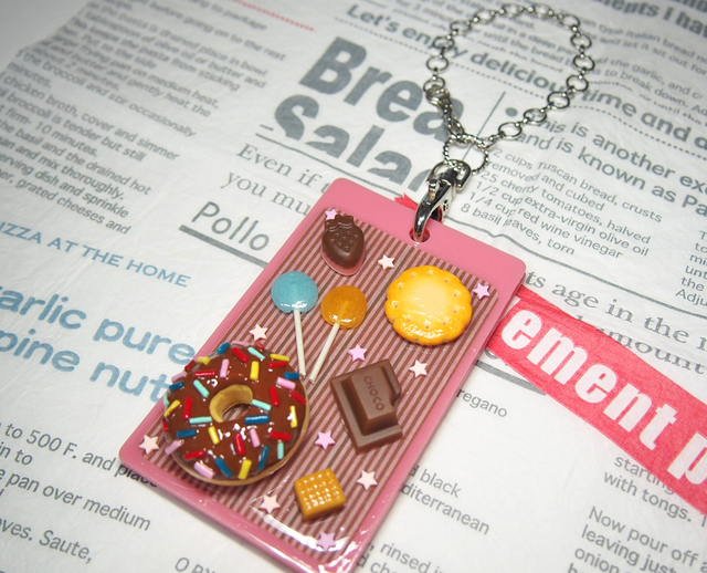 ICカードケースデコ☆ドーナツ