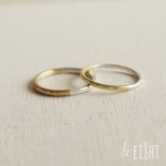 【再販】 Bi-colored Ring - 2mm幅 -
