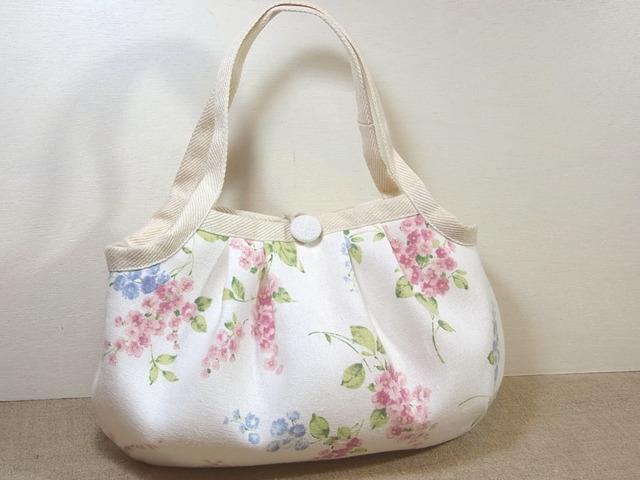 小さめグラニーバッグ「Lilas White」