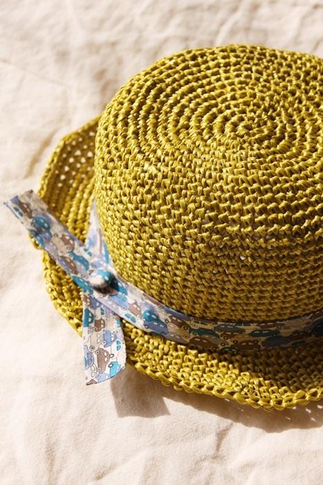 なつのコドモ帽子 for Kid's シトラスグリーン