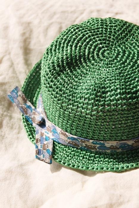 なつのコドモ帽子 for Kid's ビタミングリーン