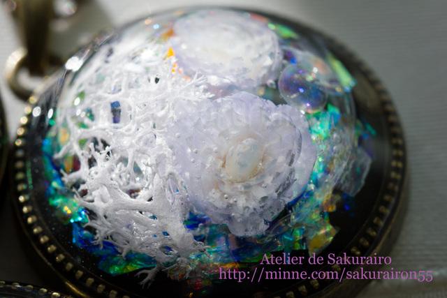 氷雪の花ペンダント =B=