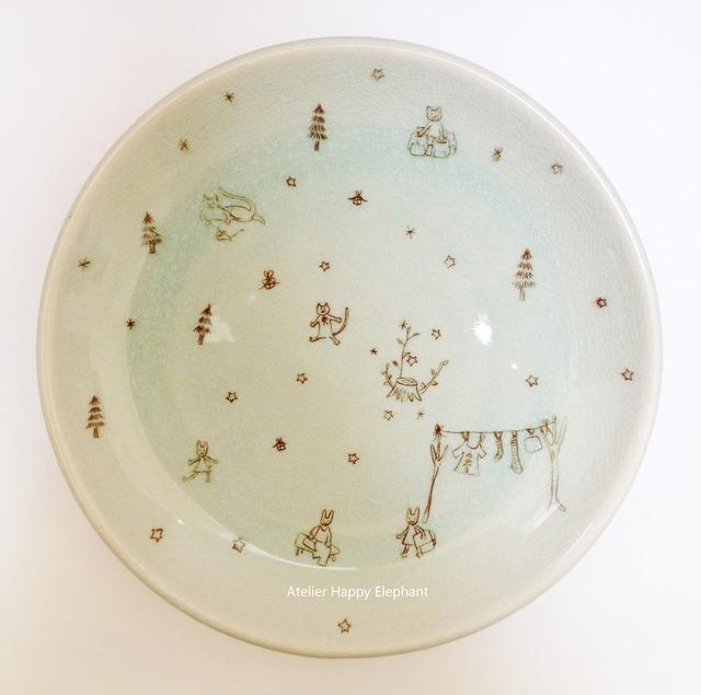 森の暮らし 大皿