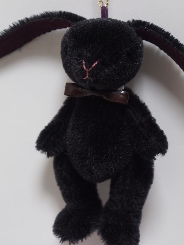 うさぎのバッグチャーム(黒)
