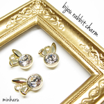 在庫限り Bijoux rabbit charm ~3pcs~