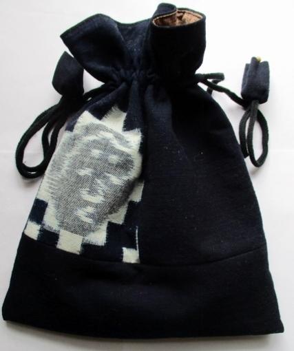 着物リメイク 筒掛けと絵絣で作った巾...