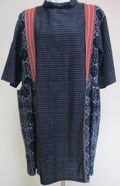 着物リメイク 絣と紬で作ったチュニッ...
