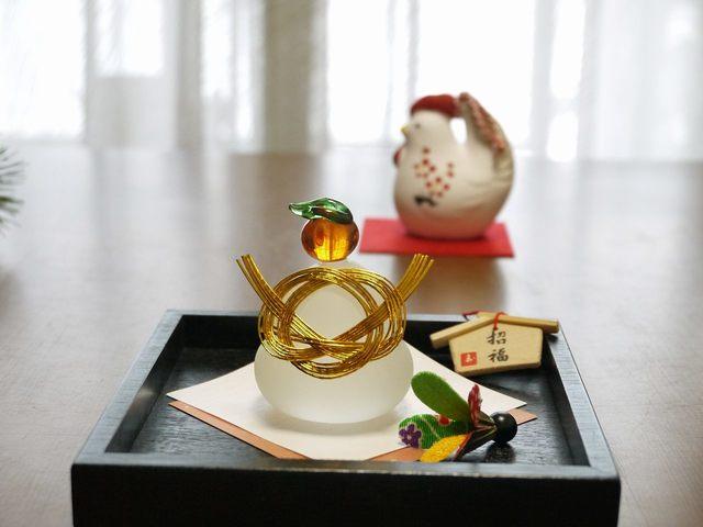 鏡餅Set S(追羽根、折り鶴)