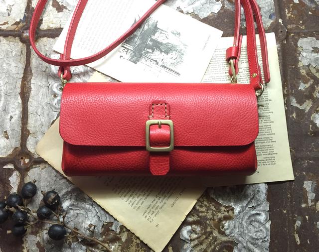 *受注製作*Walletbag (red) お財布ポシェット