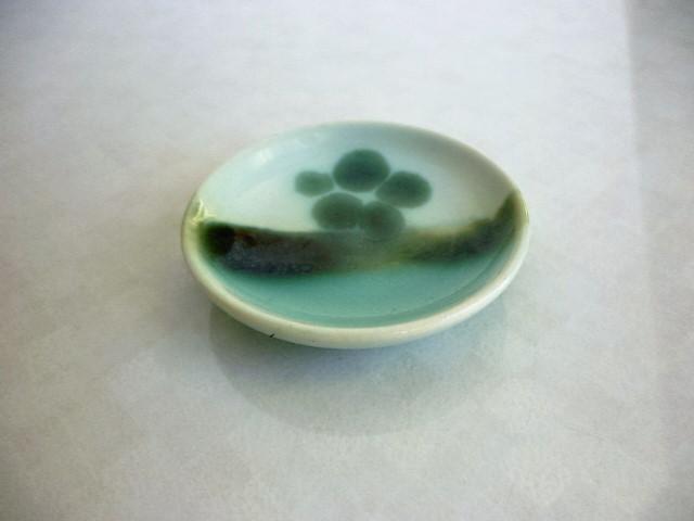 ミニチュア陶器☆和食器☆ 織部梅文皿