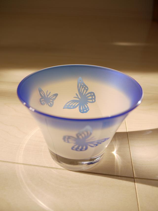 (セール品)蝶の冷茶グラス