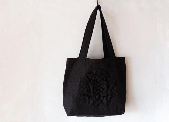【再販】 moon サークルリボンバッグ(黒)