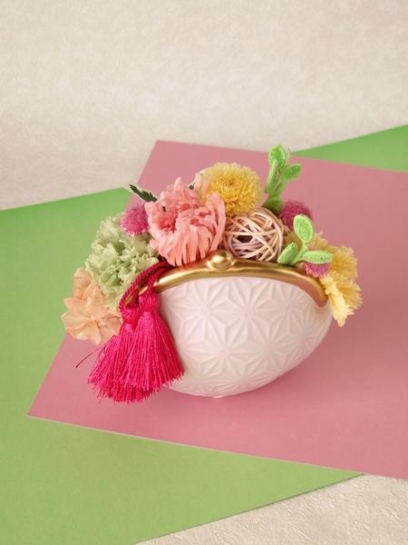 彩福花がまぐち(すみれ) 【プリザーブ...