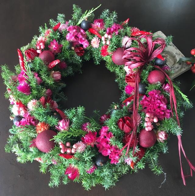 クリスマスリース  red