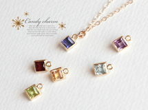 Candy charm square 14KGFネックレス