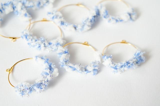 雪の泡 フープイヤリング or ピアス