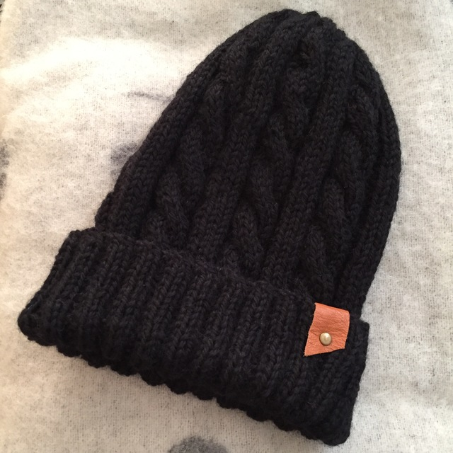 haruasa0422様専用 ニット帽 (ブラック)