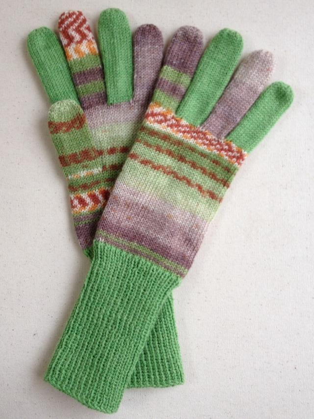 手編み5本指手袋 No.33